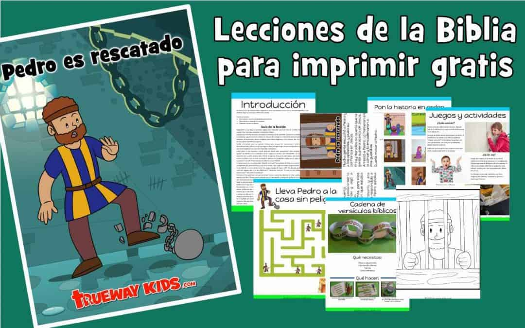 Pedro es rescatado - lección para niños. La impresión gratuita incluye historia, juegos, hojas de trabajo, páginas para colorear, manualidades, canciones y más.