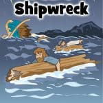 Paul's Shipwreck. Acts 27 Bible lesson for kids. FREE printable. Worksheets, story, coloring pages, craft, games and more. For home or church. Paul was on his way to Rome to stand trial when the ship he was sailing on wrecked. God was merciful and spared the lives of those aboard. We can read the story in Acts 27.