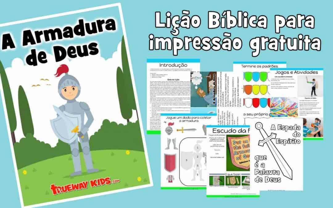 A Armadura de Deus - Lição bíblica gratuita para crianças
