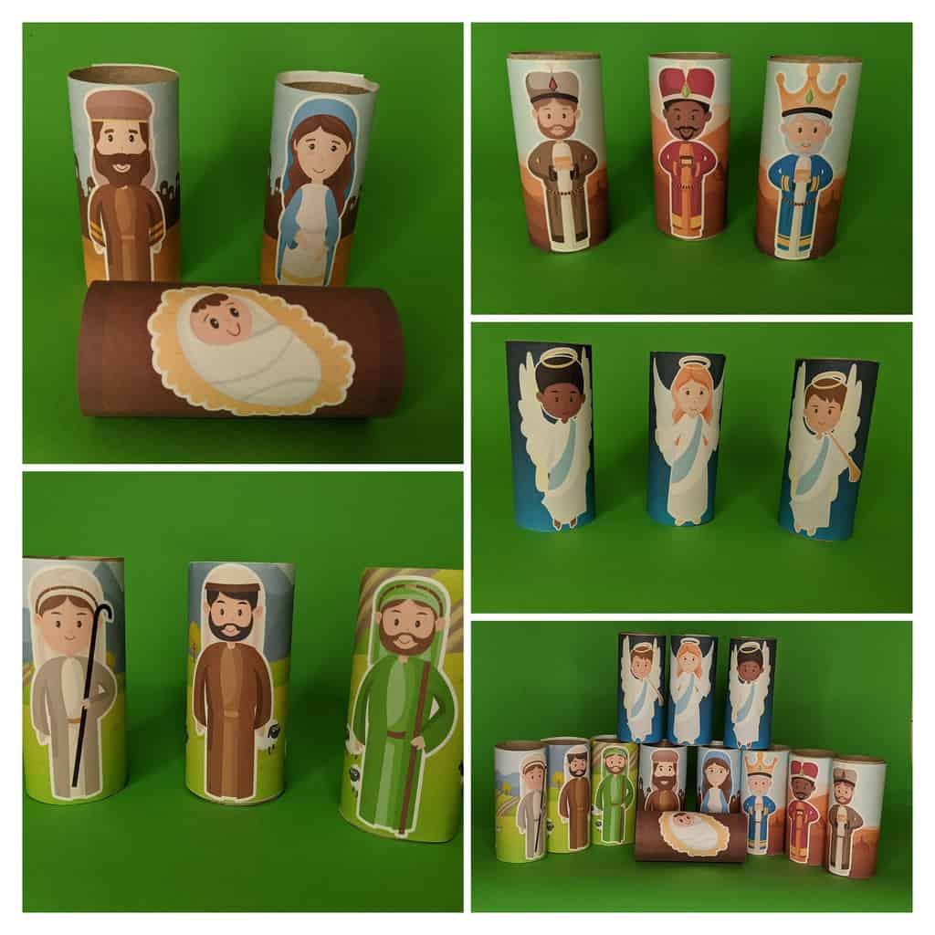 Cardboard Tube Christmas Characters