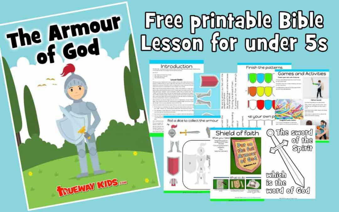 The Armor of God. Free printable Bible lesson for kids. Includes worksheets, story, craft, coloring pages and more. Ideal for preschool children at home or church.