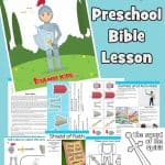 The Armor of God. Ephesians 6:10-20. Free printable Bible lesson for kids. Includes worksheets, story, craft, coloring pages and more. Ideal for preschool children at home or church.