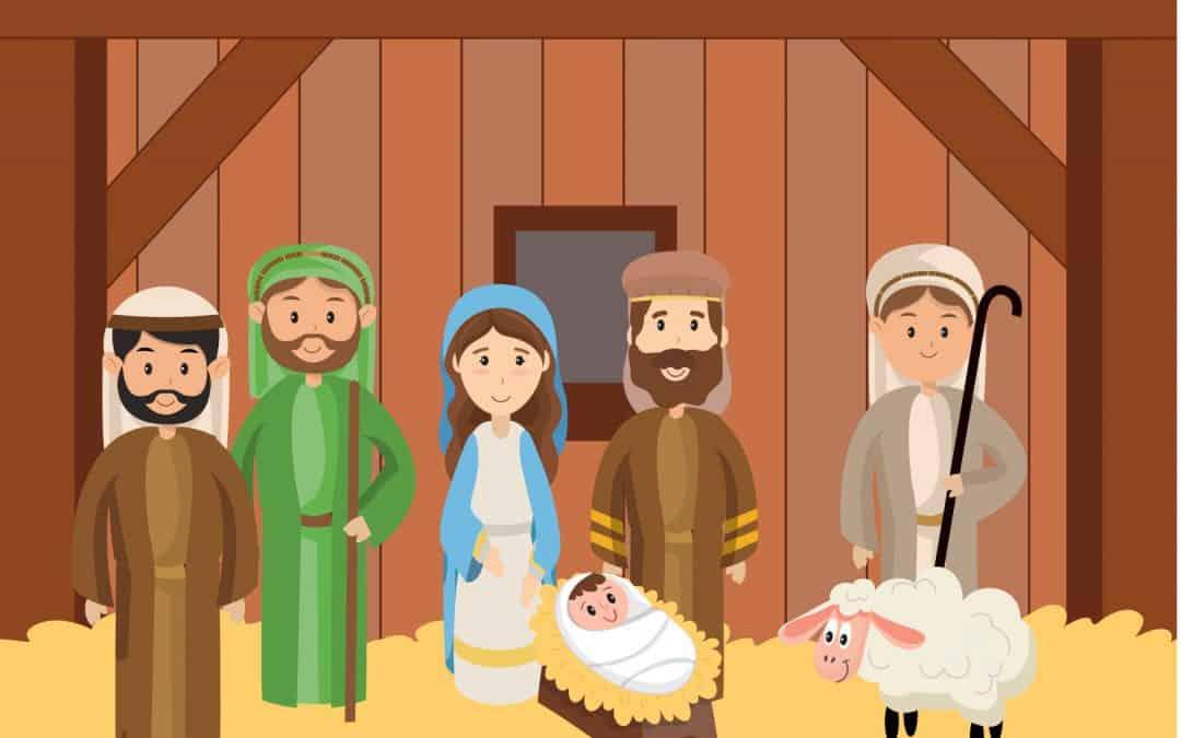 Sentier du premier Noël 10 – les bergers avec Jésus