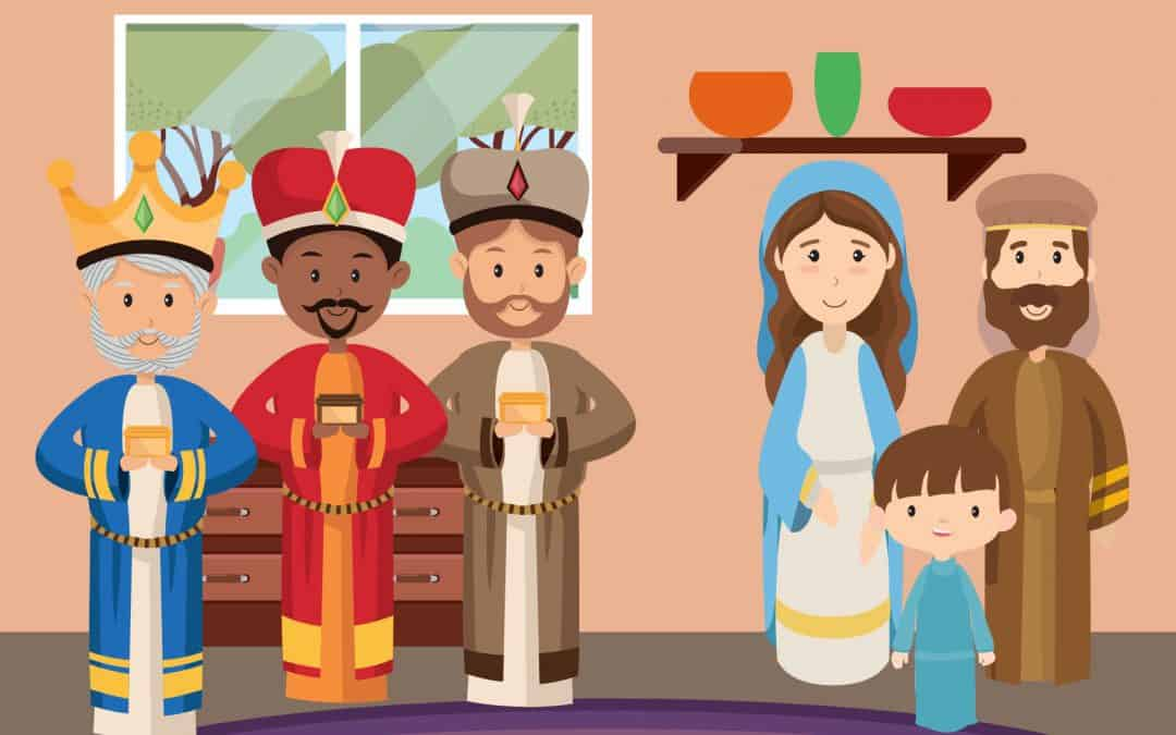 Sentier du premier Noël 12 – les mages avec Jésus