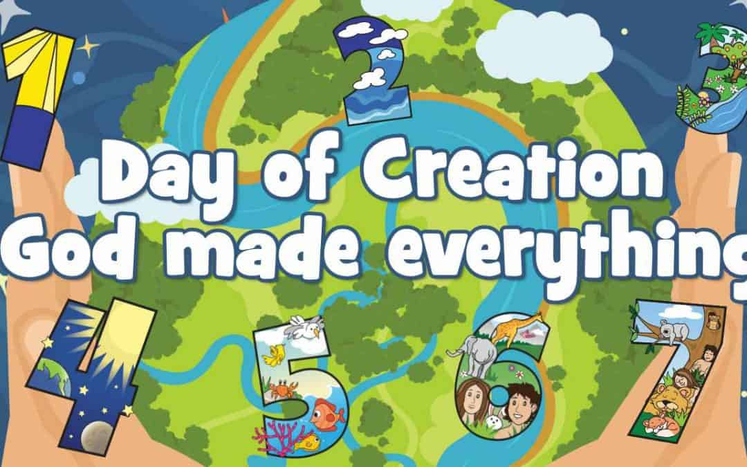 Days of Creation Bible lesson for kids. Bible story, games, educational worksheets, crafts coloring pages and more. Great for church at home or school. FREE printable