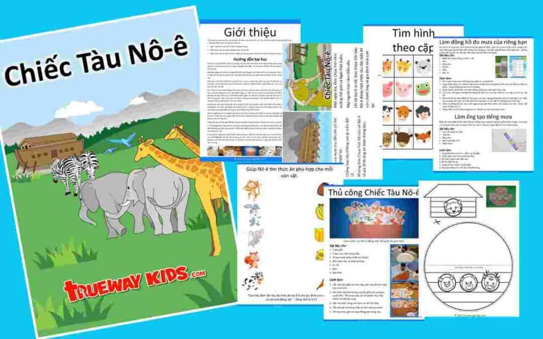 Tuần này chúng ta sẽ học câu chuyện rất được yêu thích về Con Tàu của Nô-ê chép trong Sáng thế ký 6-7.