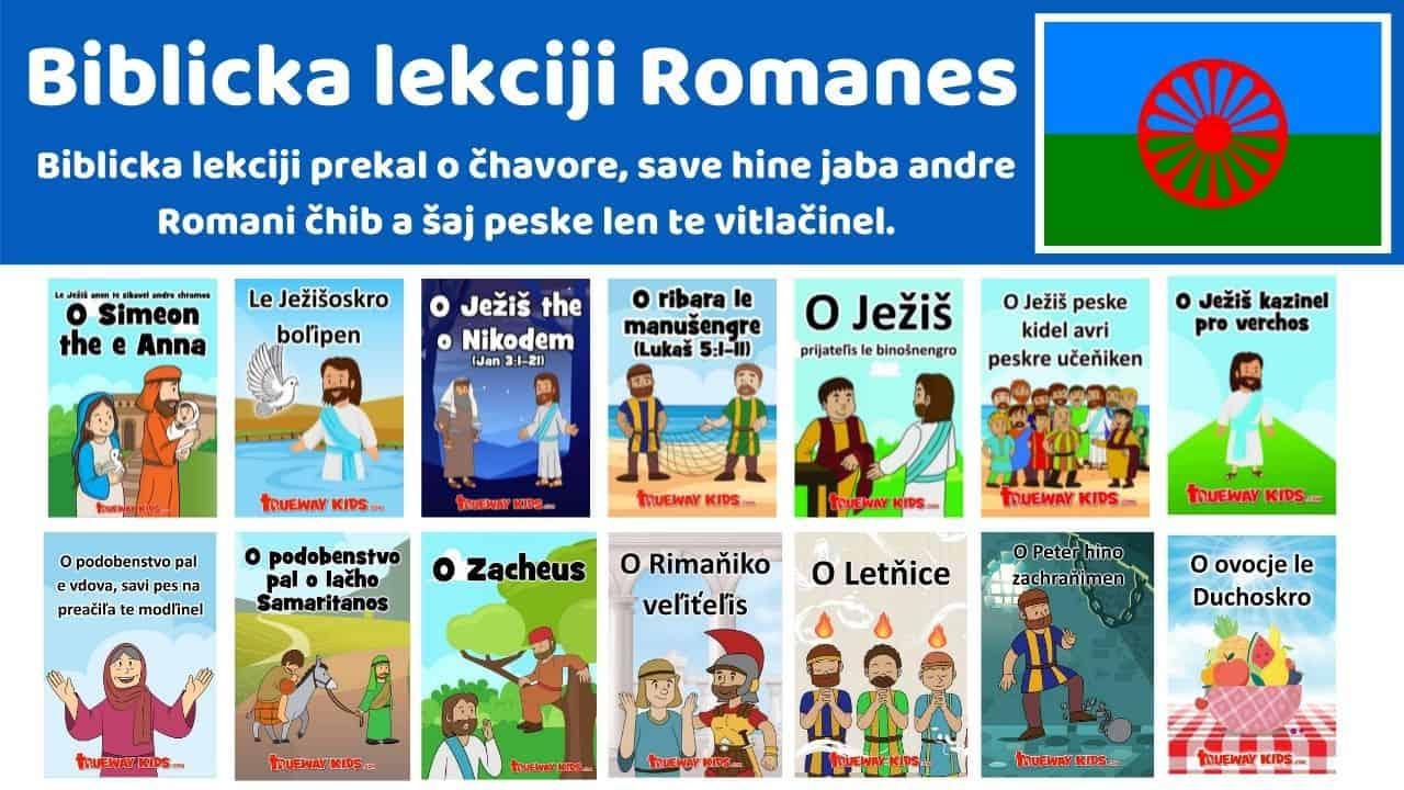 Biblicka lekciji Romanes - Biblicka lekciji prekal o čhavore, save hine jaba andre Romani čhib a šaj peske len te vitlačinel.