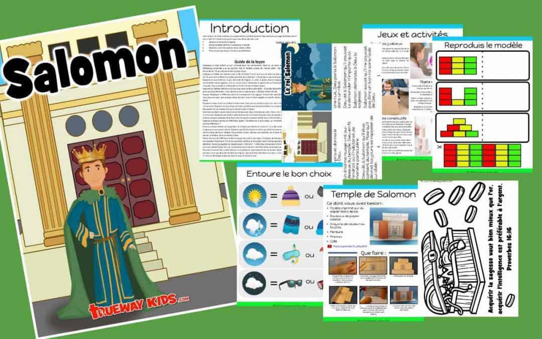Salomon - Leçon biblique imprimable gratuite
