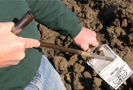 Tuinontwerp Bert bodemanalyse