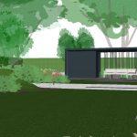 overdekt terras organische tuin
