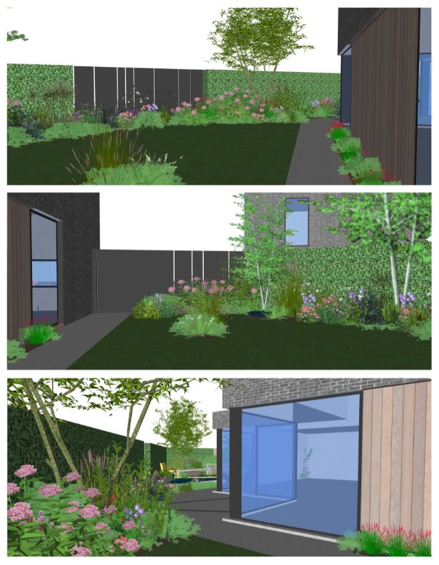 plan hedendaagse tuin
