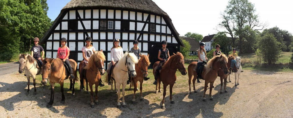 Riding camp in the summer of 2014.