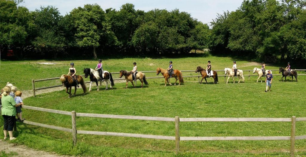 The young riders on ridelejren 2015 taught on the course.
