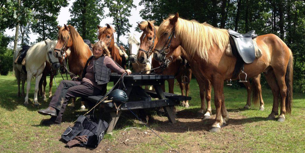 Dorte på ridelejren 2012