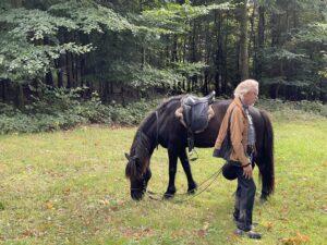 John og Stakkur i Damsbo 9.10.2021 (Foto Hans Peter Hansen)