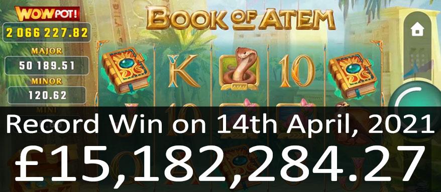 15 Million Won on WowPot Book of Atem