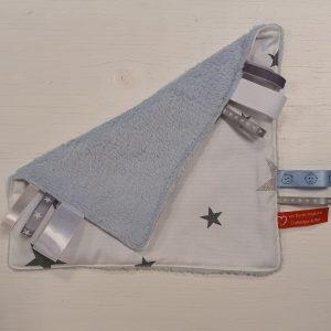 Knuffeldoek lichtblauw met sterren