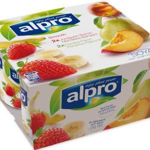 Alpro Jordgubb med Banan & Persika med Päron