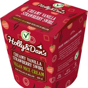Holly & Dan's Creamy Vanilla Strawberry Swirl
