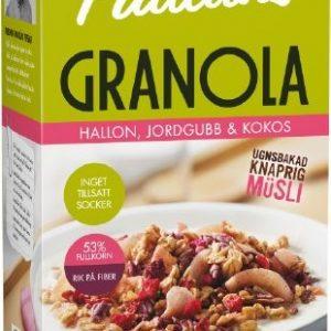 Paulúns Granola Hallon, Jordgubb & Kokos
