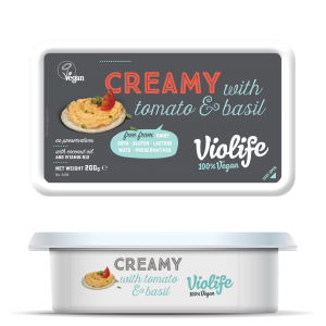 Violife Creamy med Tomat & Basilika