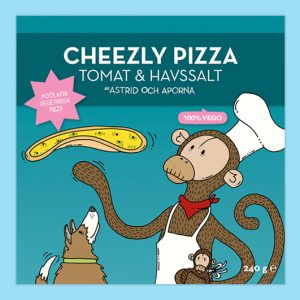 Astrid Och Aporna Cheezly Pizza Tomat & Havssalt