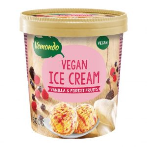 Vemondo Dairy Free Ice Cream Vanilla & Forest Fruits