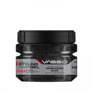 Vasso Styling Hair Gel Mnemonic Gum | The Rock XL 500 ml