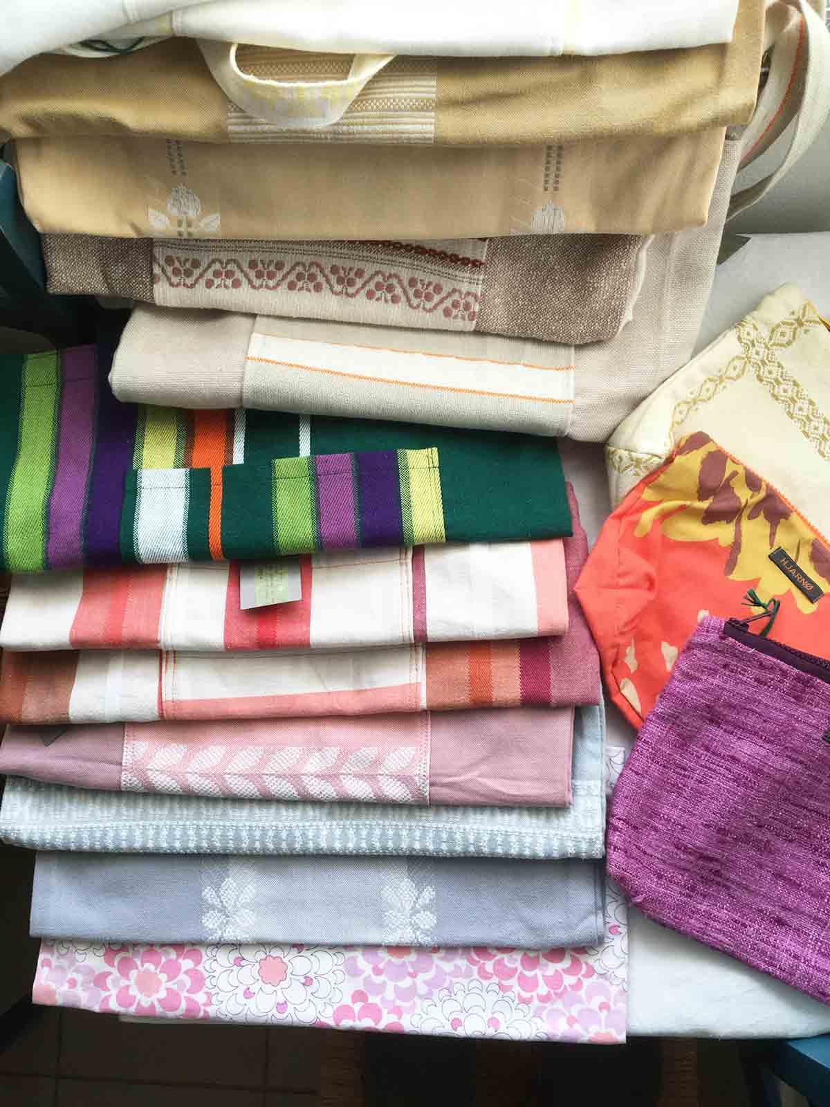 Hjarnø net af genbrugs tekstil
