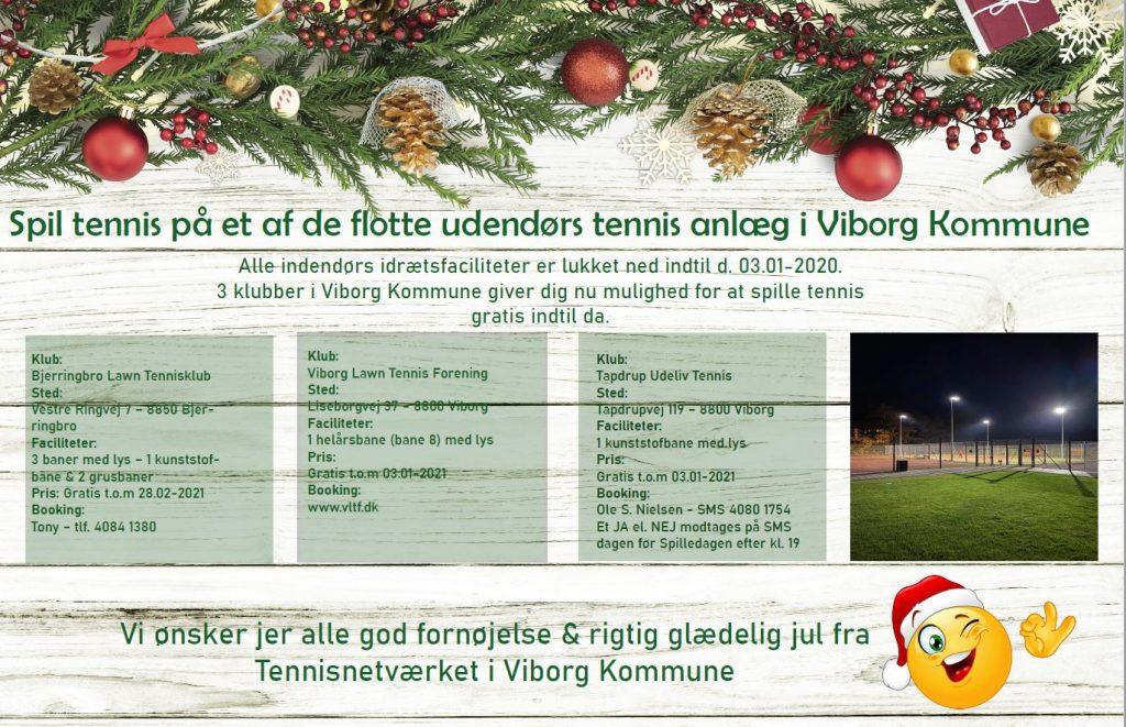 3 tennisklubber åbner helårsbaner for alle tennisspillere