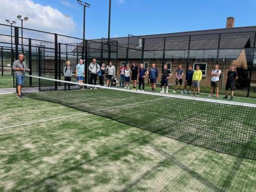 Tale ved indvielsen af anlægget i Viborg Lawn Tennis Forening v/Ole S. Nielsen - bestyrelsesmedlem i Viborg Idrætsråd