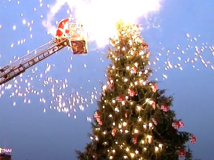 Pedaldrevet juletræ