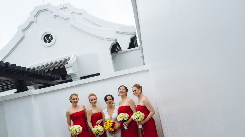 Luxury Wedding with Red Bridesmaid Dresses | Hoi An, Vietnam