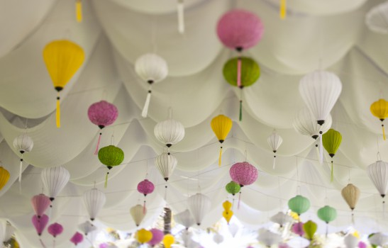 Pastel Lanterns Wedding Decorations | Hoi An, Vietnam