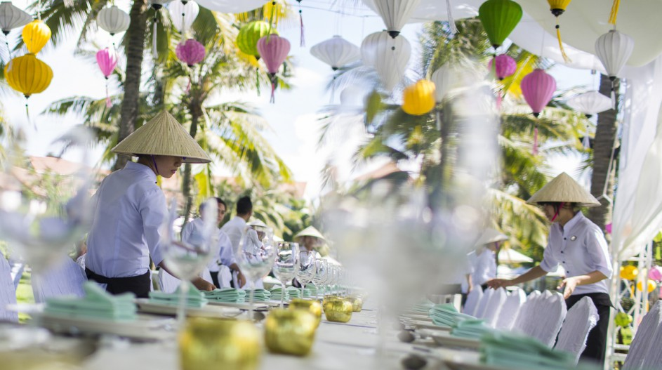 Pastel Wedding Reception Decorations | Hoi An, Vietnam