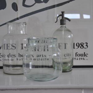 Stor smuk fransk glaskrukke fra Villaverte