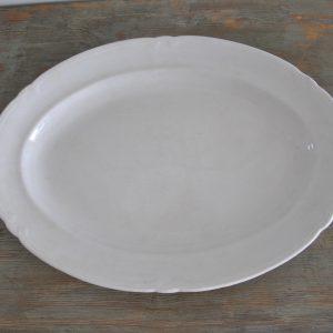 Flot ovalt porcelænsfad