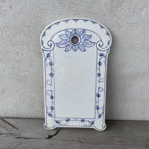 Muselmalet fransk porcelænsspækbrædt