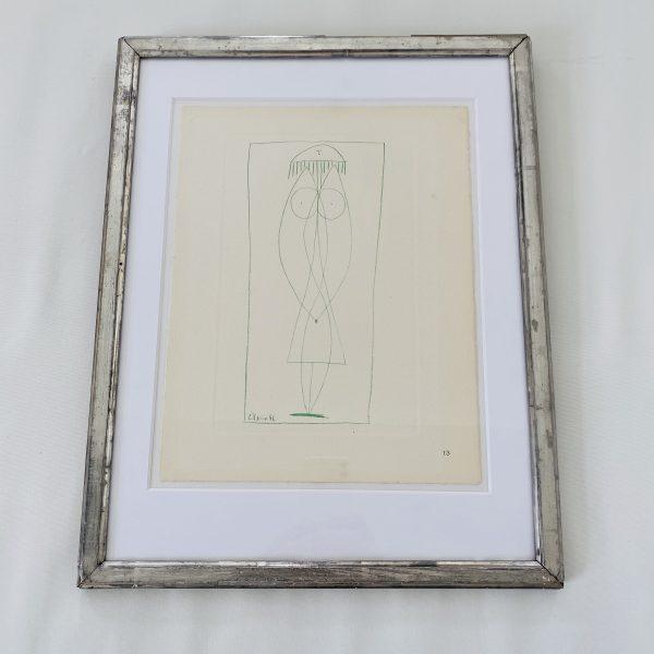 Picasso Litografi af stregtegning