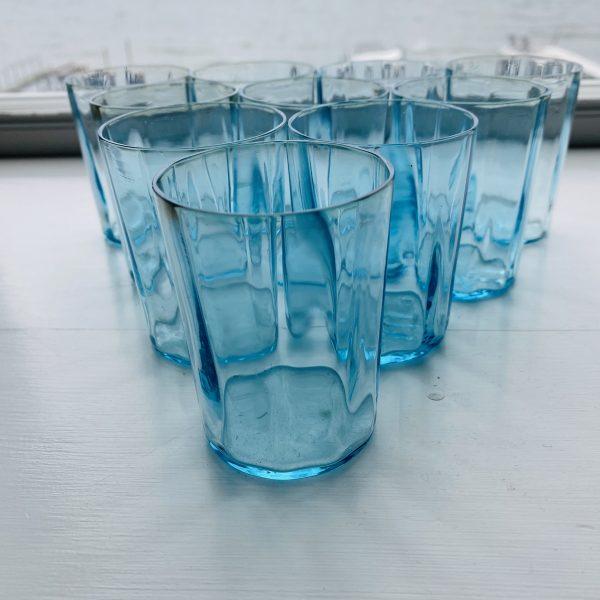 Blå vandglas 7.5 x 5.5 cm