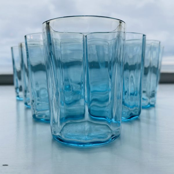 Blå vandglas 7,5 x 5,5 cm