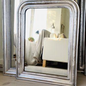 Louis Philippe Sølvspejl - 75 x 56 cm