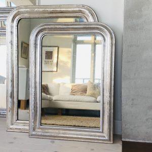 Louis Philippe Sølvspejl - 90 x 66 cm
