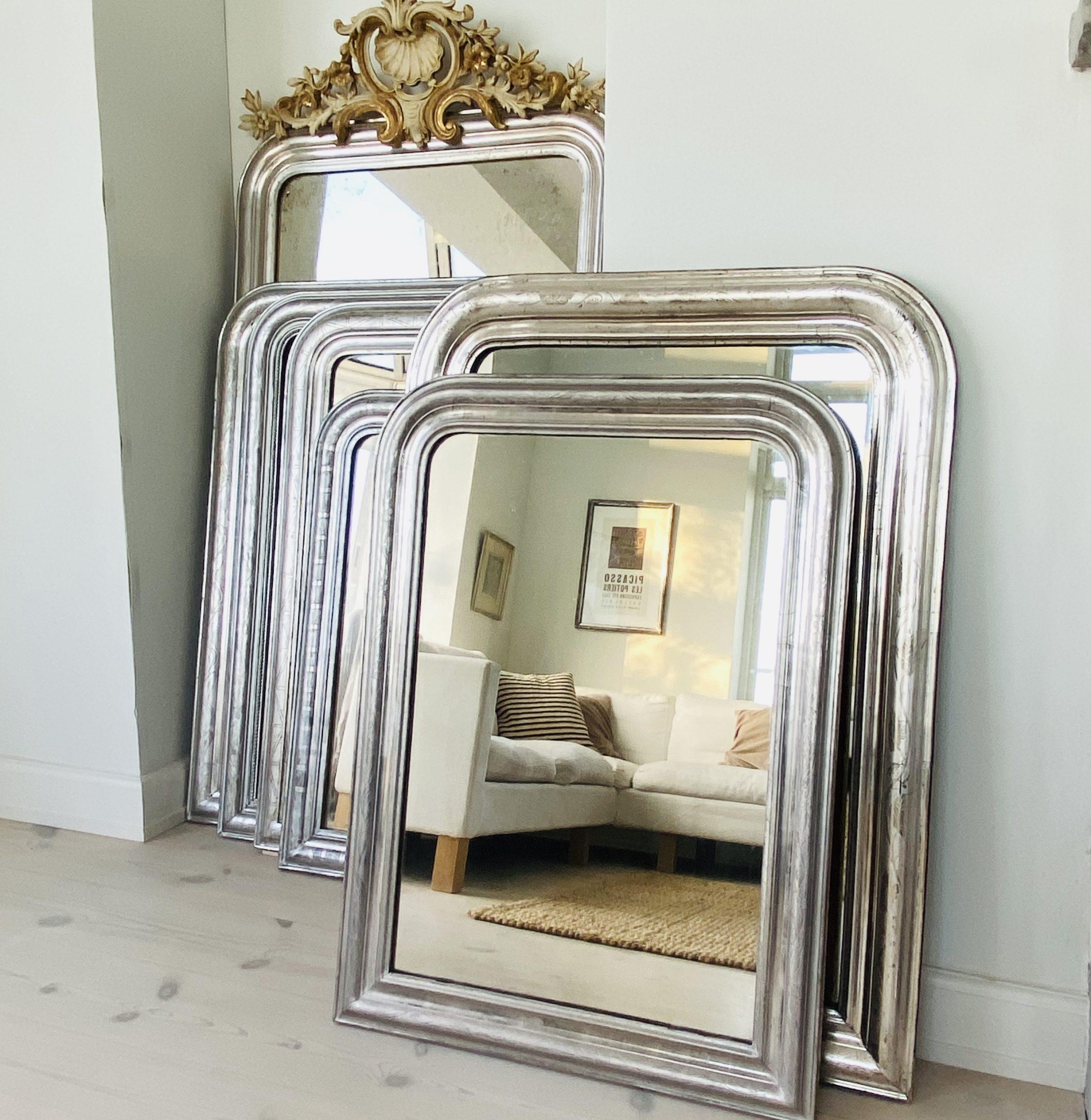 Louis Philippe Sølvspejl 103 x 75 cm