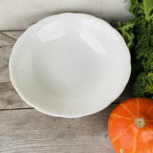 Stor flot gammel fransk salatskål
