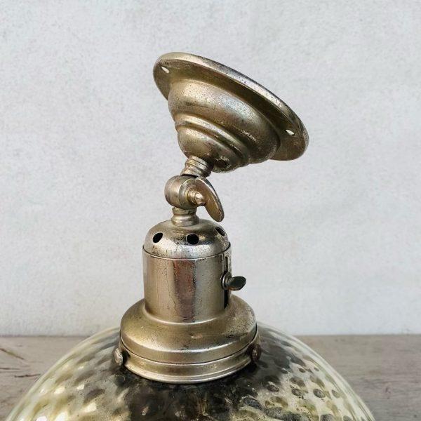 Antik fattigmandslampe med vægbeslag