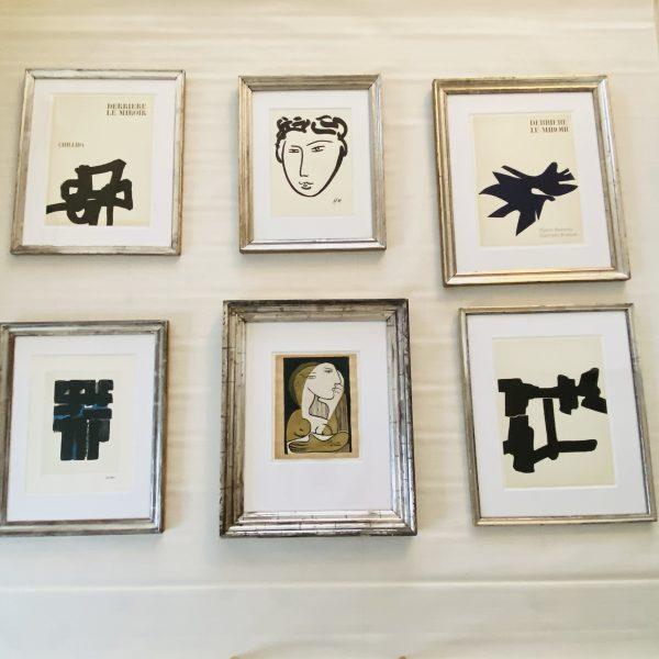 Chillida Litografi i sølvramme
