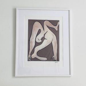 Litografi i ramme fra Villaverte