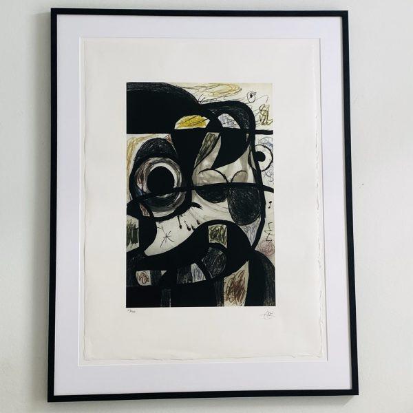 Miro litografi fra Villaverte