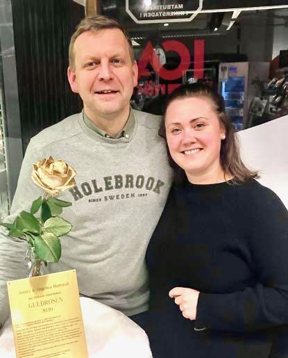 Jimmy och Angelica Hamstedt på Torgkassen